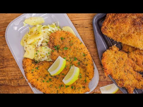 Rachael's Paprika Chicken Schnitzel With Spiced White Cabbage And Apples