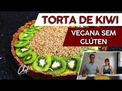 RECEITA DE TORTA DE KIWI VEGANA SEM GLÚTEN #MULTICHEF