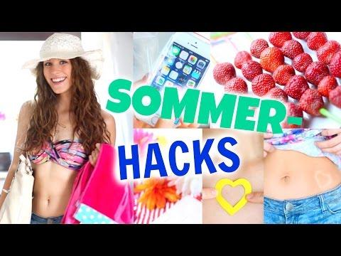 8 coole SOMMER HACKS! Abkühlen, Sonnen-Tattoos, Cola-Slushy...♡ BarbieLovesLipsticks