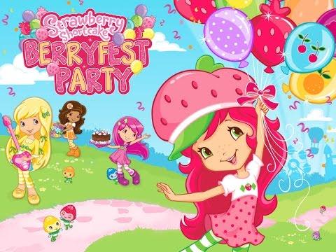 Strawberry Shortcake Berryfest Party - Best iPad app demo for kids - Ellie - 동영상