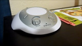 Review of HoMedics White Noise SoundSpa - Portable Sound Machine for Infant Sleep Aid