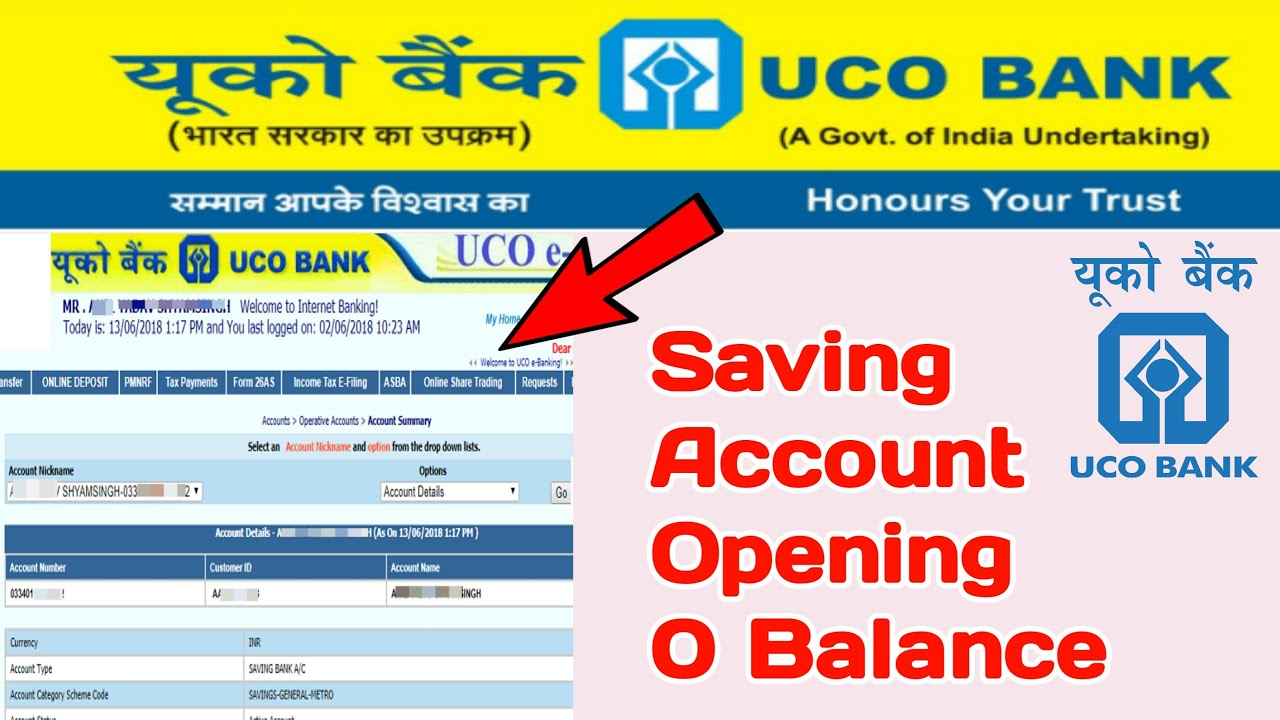 uco bank account opening form for individual