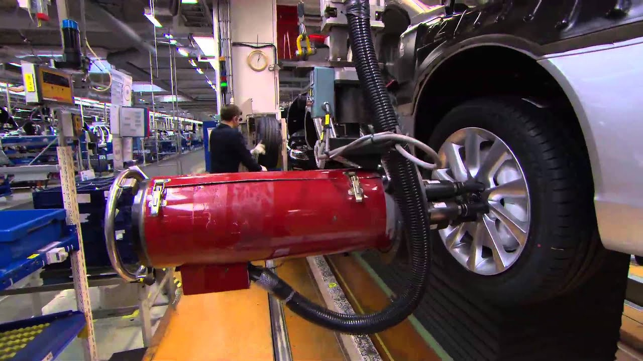 Manufacturing Footage From The Volvo Cars Manufacturing Plant In