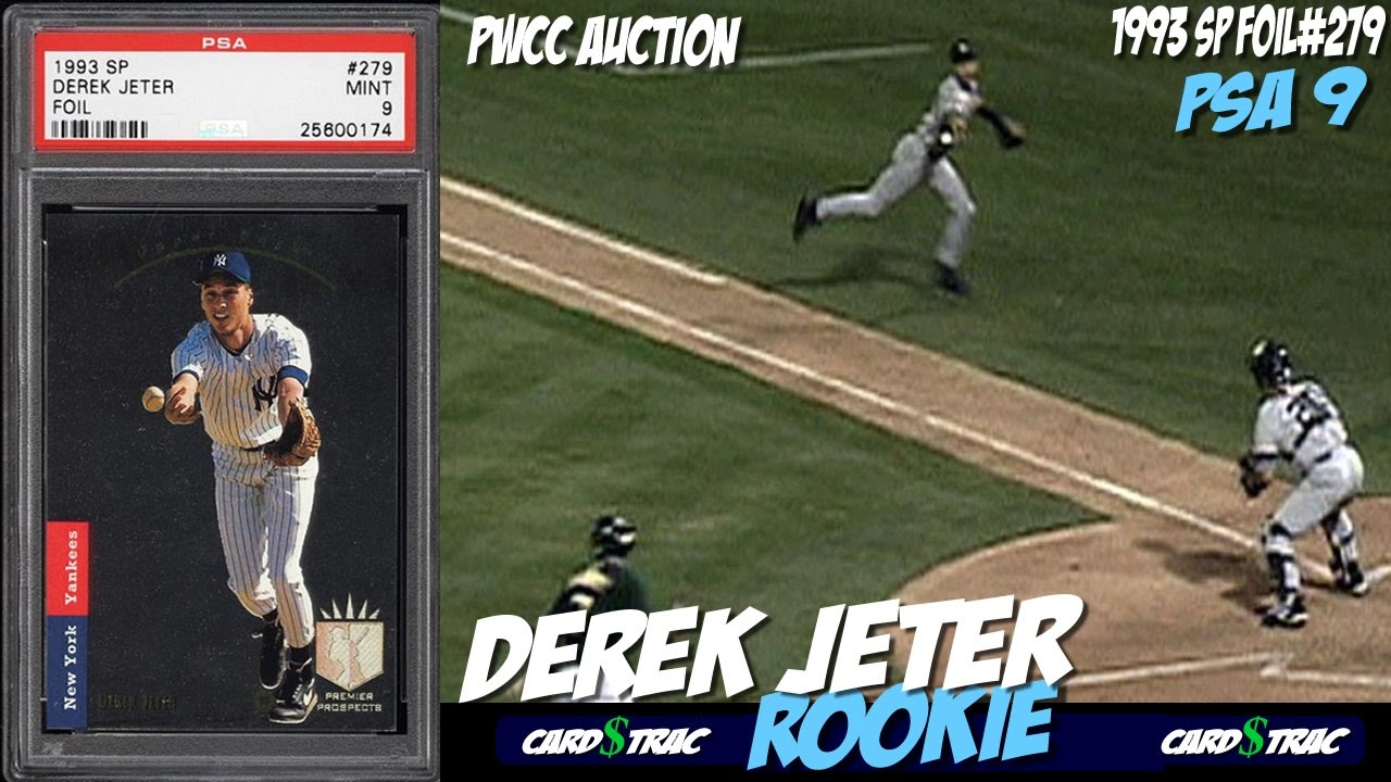 1993 Derek Jeter Rookie Card Sp Foil 279 For Sale Graded Psa 9