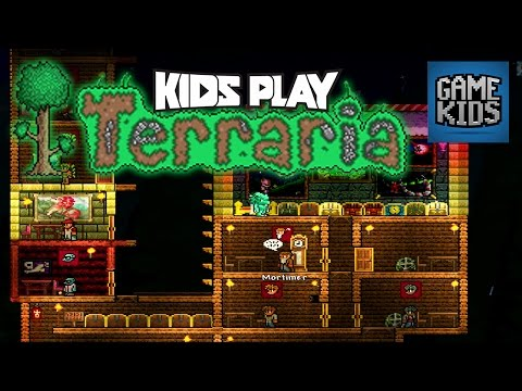 Terraria Mobile Gameplay Part 2 - Kids Play