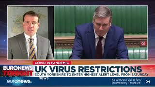 UK virus restrictions: South Yorkshire to enter highest alert level from Saturday