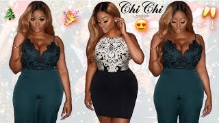 CLASSY CURVY CHRISTMAS PARTY OUTFITS/DRESS TRY ON HAUL | CHICHI LONDON CLOTHING| CURVY/PLUS SIZE
