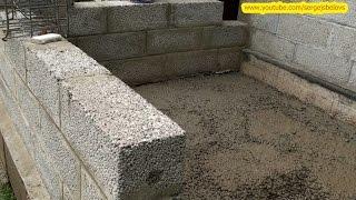 Веранда Часть-2 - Стены из керамзитобетонных блоков и Пол(Пристройка к дому веранды. В этой части заливка пола и укладка керамзитных блоков Fibo. Неожиданно пошел град., 2015-07-23T15:42:16.000Z)