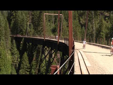 Scenic Bike Ride - Hiawatha Trail - Milwaukee RR - Idaho/Montana, MT