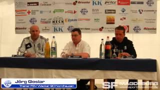 Pressekonferenz - FSV Wacker Nordhausen gegen 1. FC Magdeburg 3:2 (2:1) - www.sportfotos-md.de