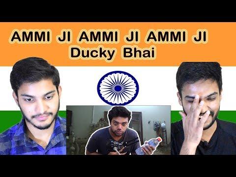 Indian reaction on  AMMI JI AMMI JI AMMI JI | Ducky Bhai | Swaggy d