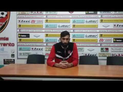 Sorrento-Santa Maria Cilento 2-0, Simone Cioffi in conferenza stampa post-partita, 22.01.2017