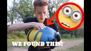 I FOUND SOMETHING INSIDE OF DAVE THE MINION PILLOW!!? *It disappears!*