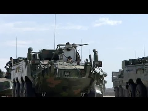 Military parade: Engineering and chemical defense units