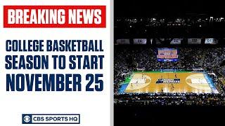 College Basketball season HAS A START DATE | CBS Sports HQ