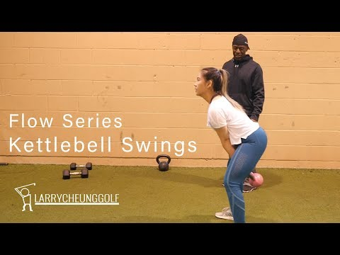 Golf Fitness – Flow Exercise, How to do a Kettlebell Swing