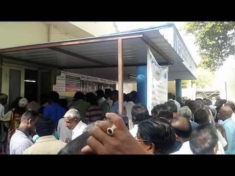 Rush in state Bank of India