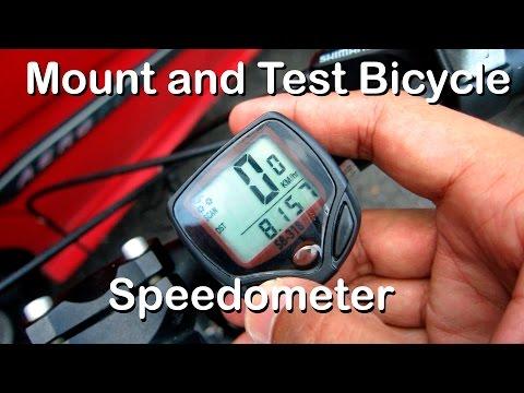 memasang dan mencuba speedometer/odometer murah pada basikal