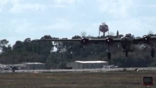 "Consolidated B-24 Liberator ""Witchcraft"" Takes Off in Florida"