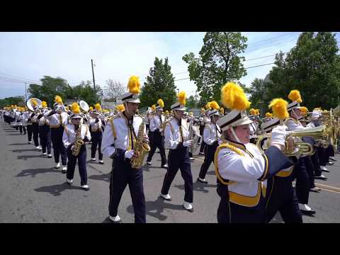 Owosso High School Marching band - Curwood parade June 3, 2017