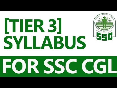 SSC CGL Complete Information about Tier - 3 (in Hindi)