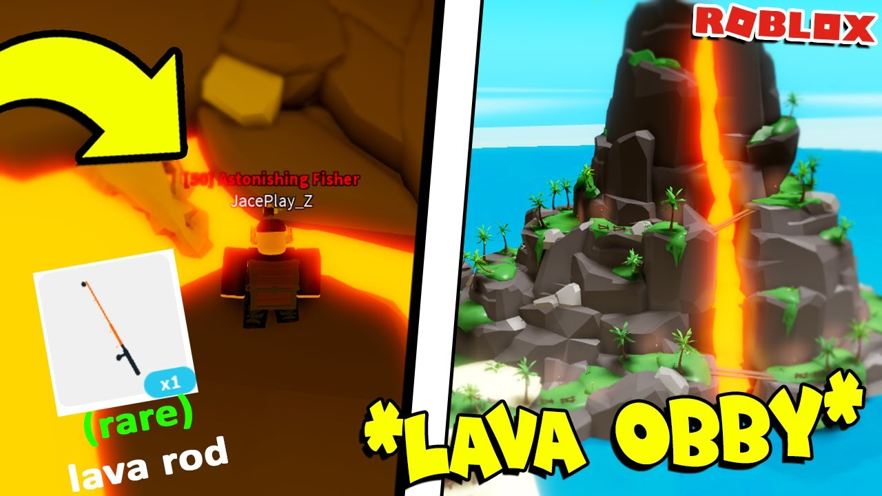 How To Beat The Lava Obby In Fishing Simulator Roblox Youtube