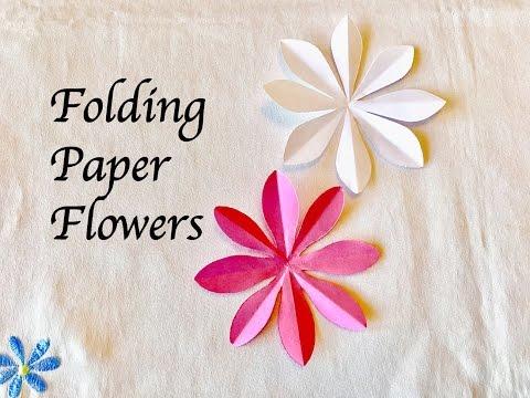 How to make 8 petal Paper Flowers : Craft : สอนพับดอ�ไม้ 8 �ลีบสวยๆ�ละทำง่าย