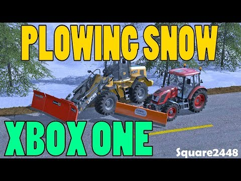 Farming Simulator 17 Live | Plowing Snow | Xbox One | Multiplayer | JCB Loader | Tractor Plow