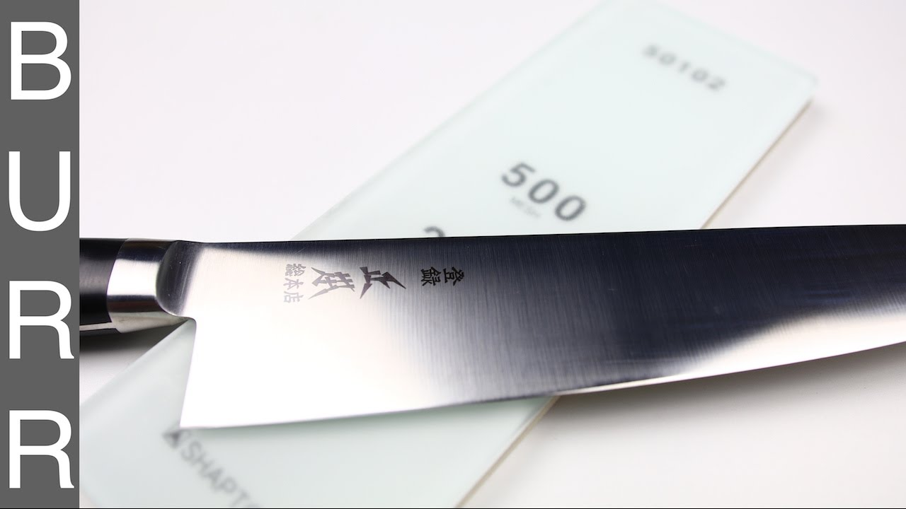 How To Sharpen Masamoto VG Chef Knife with 70/30 Bevel - YouTube
