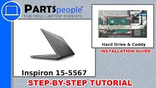 Dell Inspiron 15-5567 (P66F001) Hard Drive & Caddy How-To Video Tutorial