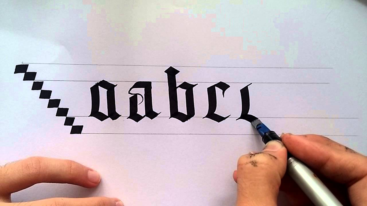 gothic calligraphy for beginners  1 - YouTube fae20f3a1b12