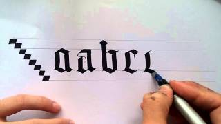 gothic calligraphy for beginners #1