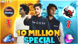 As Gaming x Lokesh Gamer x Gyan gaming Biggest Collab 10 Million Special Live Stream - Free Fire