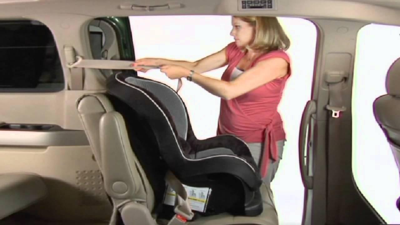 Forward Facing Child Seat Installation  YouTube
