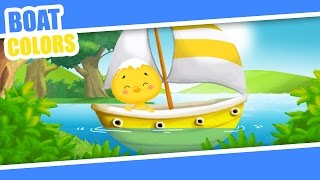 Boats - Learning Colors - for Kids and Preschool - Learn Colours