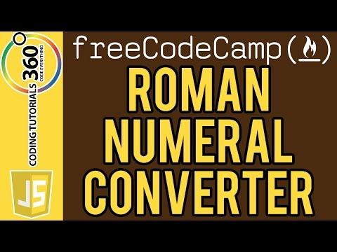 Roman Numeral Converter : FreeCodeCamp.com Intermediate Algorithm Scripting