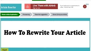 Article Rewriter Tool For 100% Free | Best SEO Tools FREE!! Online Service | How To  Rewrite Article