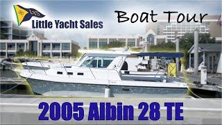 2005 Albin 28 Tournament Express [BOAT TOUR] - Little Yacht Sales YouTube Videos