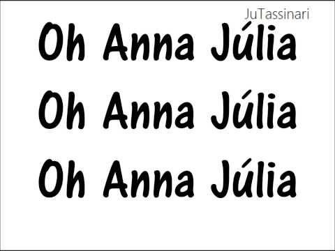 Anna Júlia - Los Hermanos - Letra
