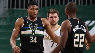 Luka 28 Pts vs Giannis 31 Pts Duel in the Clutch! 2020-21 NBA Season