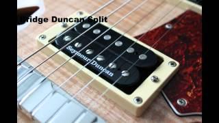 Seymour Duncan Hot Rodded Humbucker Set Comparison in PRS SE Custom Semi Hollow