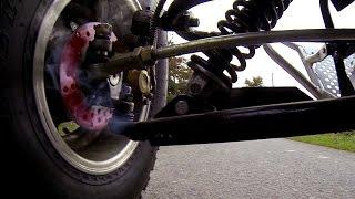 En quad à plus de 210km/h ... freins cramé !! prototype 1000cc // 5 .