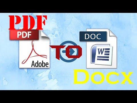 How To Convert PDF To Word | PDF To Docx | Convert PDF To Editable Word