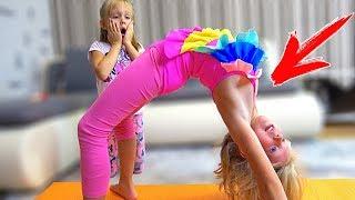 Девочки ПОСПОРИЛИ кто ЛУЧШИЙ в ГИМНАСТИКЕ? Почему Они смеялись над ПАПОЙ? Скетч от Family Box