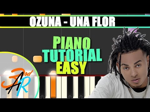 UNA FLOR (Ozuna || ODISEA) EASY Piano Tutorial / Cover SYNTHESIA + MIDI & SHEET