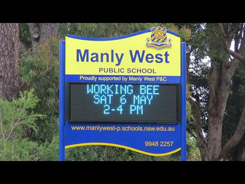 Electronic Sign - Manly West Public School, Sydney