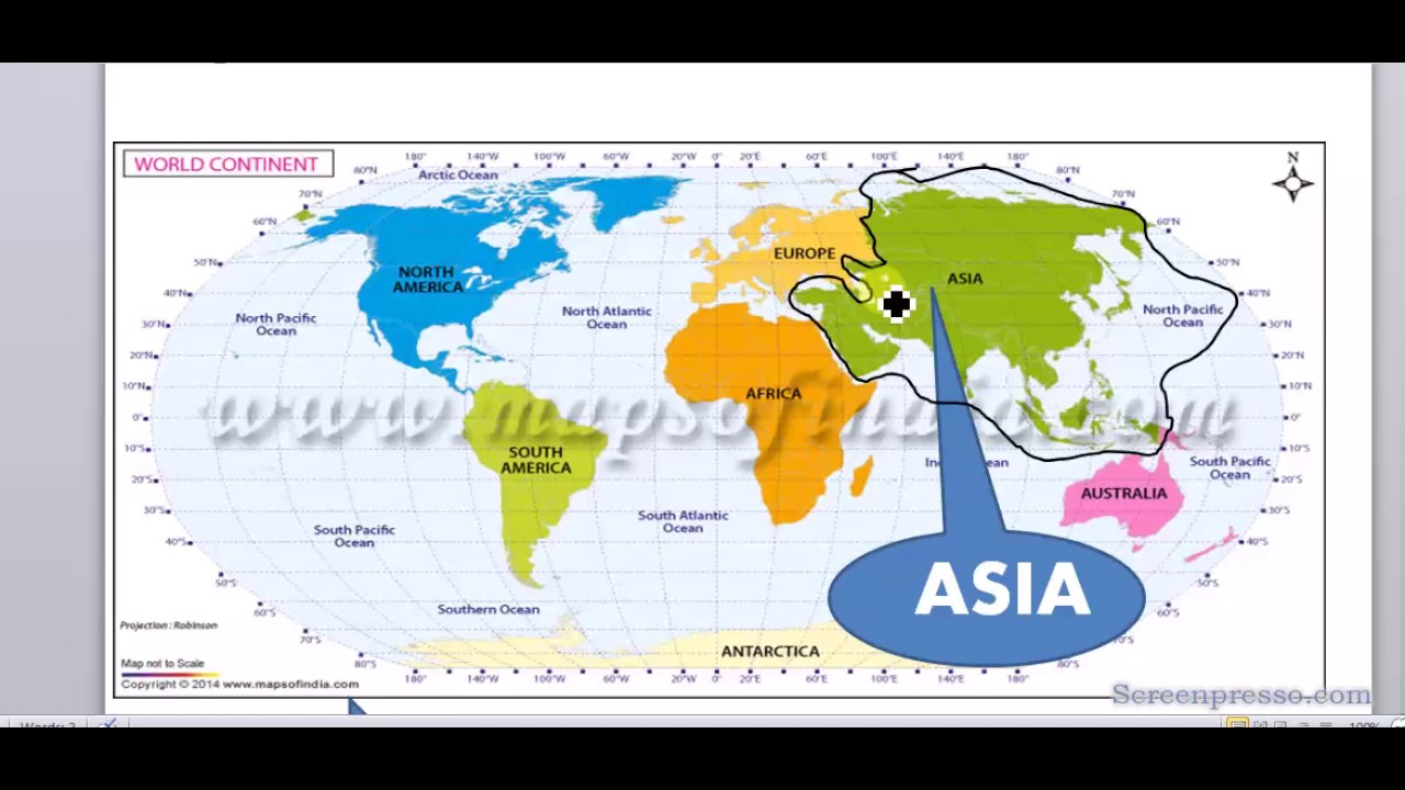 Location Of Asia In World Map.Map 2 Asian Countries And Their Location In World Map