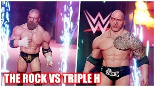 WWE 2K Battlegrounds – The Rock Vs Triple H