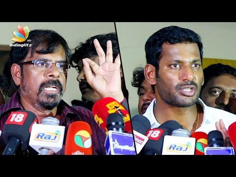 We promise lower ticket prices on online booking : Vishal Speech | RK Selvamani, Producer Council