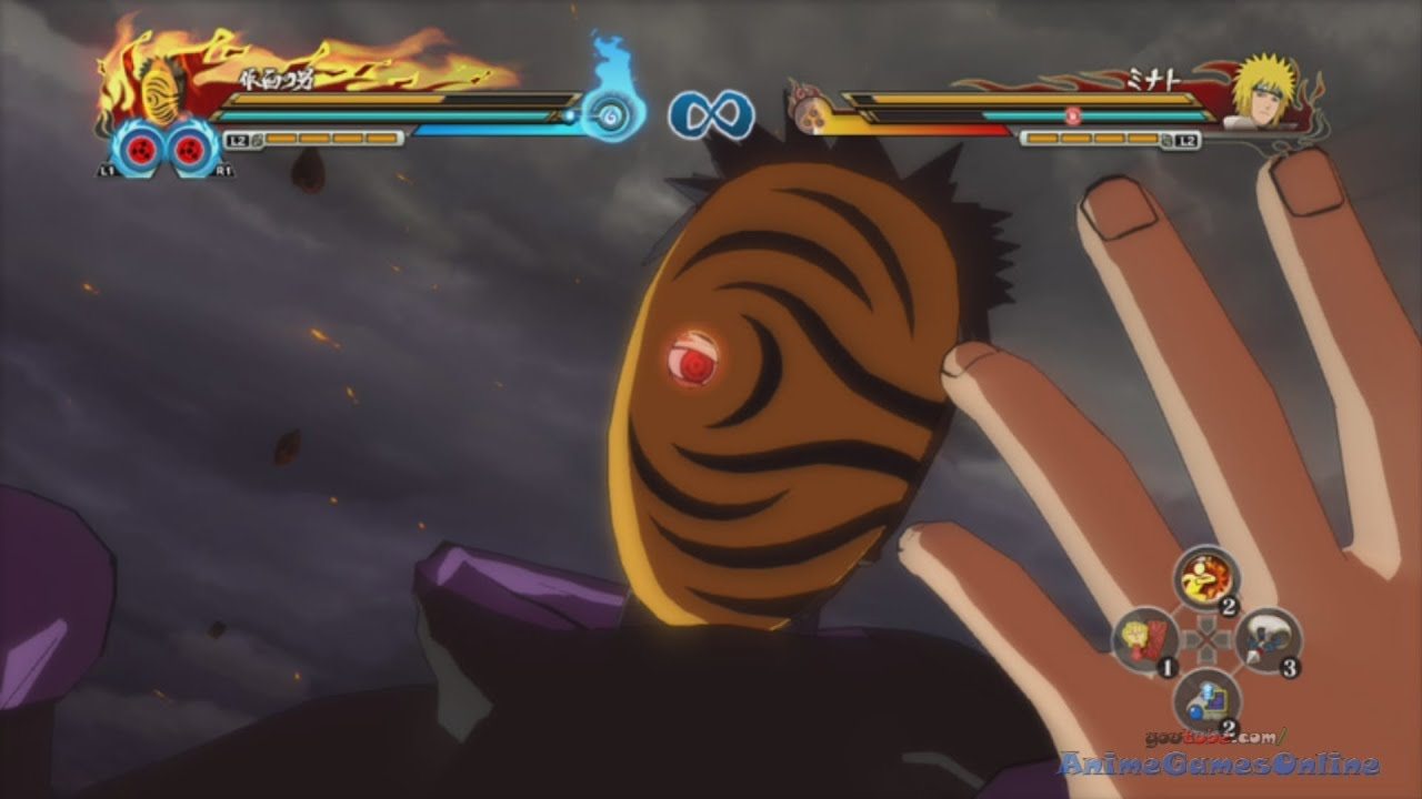 naruto storm revolution masked man tobi obito and